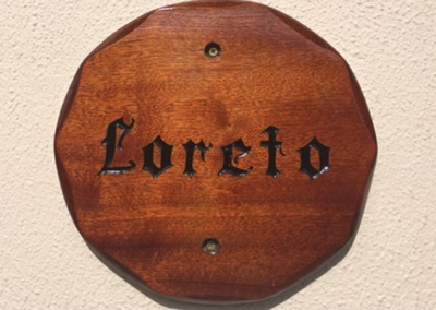 loreto wooden placque after